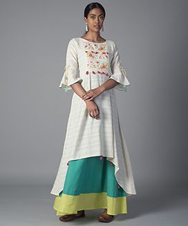 Floral embroidered dress-S