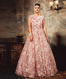 Dusty Pink sequinned Dress-M