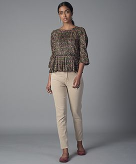 Pleated short top-XS