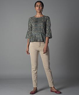 Pleated Short Top